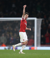 Arsenal's Laurent Koscielny leaves the pitch after being substituted<br /> <br /> Photographer Rob Newell/CameraSport<br /> <br /> UEFA Europa League Group E - Arsenal v FK Qarabag - Thursday 13th December 2018 - Emirates Stadium - London<br />  <br /> World Copyright &copy; 2018 CameraSport. All rights reserved. 43 Linden Ave. Countesthorpe. Leicester. England. LE8 5PG - Tel: +44 (0) 116 277 4147 - admin@camerasport.com - www.camerasport.com