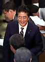 Prime Minister Shinzo Abe and opposition leaders hold a political debate