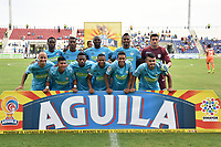 MONTERIA - COLOMBIA, 09-02-2019: Jugadores de Jaguares posan para una foto previo al partido por la fecha 4 de la Liga Águila I 2019 entre Jaguares de Córdoba y Millonarios jugado en el estadio Jaraguay de la ciudad de Montería. / Players of Jaguares pose to a photo prior the match for the date 4 as part Aguila League I 2019 between Jaguares de Cordoba and Millonarios played at Jaraguay stadium in Monteria city. Photo: VizzorImage / Andres Rios / Cont