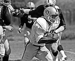 Oakland Raiders training camp August 10, 1982 at El Rancho Tropicana, Santa Rosa, California.   Oakland Raiders running back Marcus Allen (32).