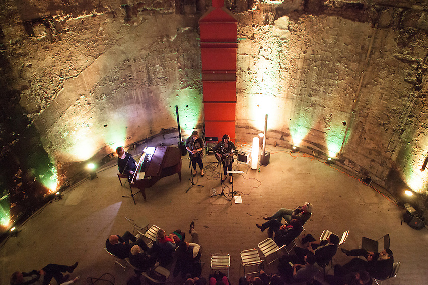 Liane Carroll, Sophie Bancroft & Sara Colman perform at the Grand Entrance Hall at Brunel Museum. The Grand Entrance Hall, where young Isambard Kingdom Brunel nearly drowned, was the world's first underground theatre. Before the trains came, the chamber echoed with applause for acrobats, tightrope walkers and serenaders. It was also the entrance to the first undergound tunnel under the River Thames. First for pedestrians and eventually trains.