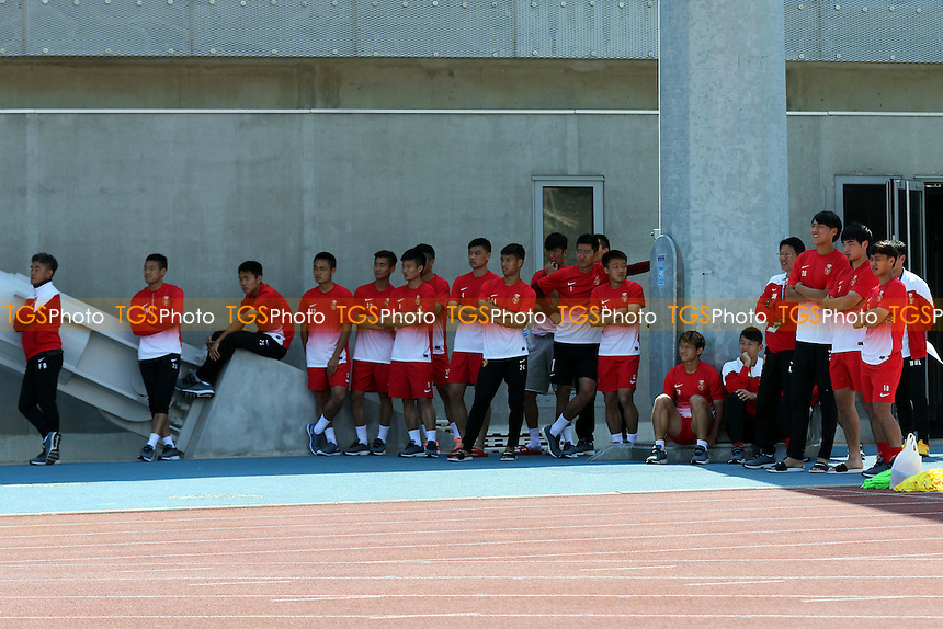 The Chinese Under 20's team watch on from the sidelines - Ivory Coast Under-20 vs England Under-20 -2015 Toulon Tournament Football at Stade Leo Lagrange, Toulon, France - 30/05/15 - MANDATORY CREDIT: Paul Dennis/TGSPHOTO - Self billing applies where appropriate - contact@tgsphoto.co.uk - NO UNPAID USE