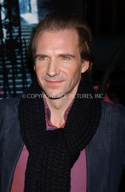 WWW.ACEPIXS.COM . . . . . ....November 12 2005, New York City....RALPH FIENNES....'Harry Potter and the Goblet of Fire' New York premiere arrivals at the Zeigfeld Theatre....Please byline: KRISTIN CALLAHAN - ACE PICTURES.. . . . . . ..Ace Pictures, Inc:  ..Philip Vaughan (212) 243-8787 or (646) 769 0430..e-mail: info@acepixs.com..web: http://www.acepixs.com