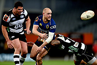 Matt Faddes of Otago in action during the 2018 Mitre 10 Cup Championship rugby semifinal between Canterbury and Counties Manukau at Forsyth Barr Stadium in Dunedin, New Zealand on Saturday, 20 October 2018. Photo: Joe Allison / lintottphoto.co.nz