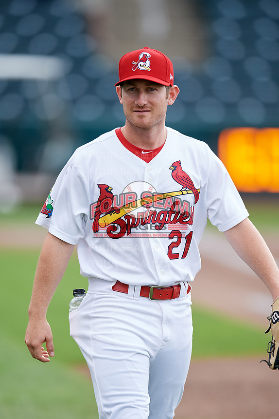 Springfield Cardinals second baseman Casey Turgeon (21) before a game against the Corpus Christi Hooks on May 31, 2017 at Hammons Field in Springfield, Missouri.  Springfield defeated Corpus Christi 5-4.  (Mike Janes/Four Seam Images)