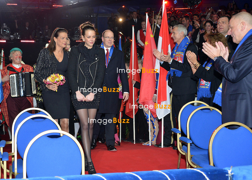 37th Monte-Carlo International Circus Festival Gala and Awards Ceremony. Monaco Princely family : Prince Albert of Monaco, Princess Charlene, Princess Stephanie, Pauline Ducruet and Pierre Casiraghi.