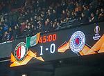 28.11.2019: Feyenoord v Rangers: Celtic flag on scoreboard