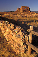 AJ3882, New Mexico, pueblo, ruin, Pecos National Historical Park, Ancient pueblo ruins at Pecos Nat'l Historical Park in the state of New Mexico.