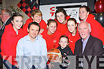 Launching the St Mary's Christmas Basketball Blitz in Tom McCarthy's bar Castleisland on Friday night was front row l-r: Ruairi Rahilly, Rebecca Hartnett, Donal O'Connor. Back row: Eabhait Scanlon, Reidin Loughlin, Noelle Scanlon, Lorraine Scanlon and Eileen O'Connor and Tracy Hartnett..