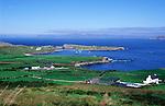 Coastal scenery and scattered settlement Dursey Head, Beara peninsula, County Cork, Ireland