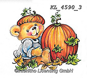 CUTE ANIMALS, LUSTIGE TIERE, ANIMALITOS DIVERTIDOS, paintings+++++,KL4590/3,#ac#, EVERYDAY ,sticker,stickers ,bear,bears ,autumn