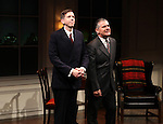 Robert Stanton & Kevin O'Rourke during the Curtain Call for the Opening Celebration of 'Checkers' at the Vineyard Theatre in New York City on 11/11/2012