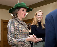 Queen Mathilde of Belgium meets with Belgian Princess Louisa Maria of Belgium - Montréal