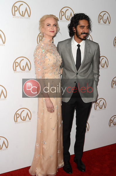 Nicole Kidman, Dev Patel<br /> at the 2017 Producers Guild Awards, Beverly Hilton Hotel, Beverly Hills, CA 01-28-17<br /> David Edwards/DailyCeleb.com 818-249-4998