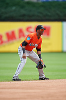 Miami Marlins Marcos Rivera (17) during a Florida Instructional League game against the Washington Nationals on September 26, 2018 at the Marlins Park in Miami, Florida.  (Mike Janes/Four Seam Images)