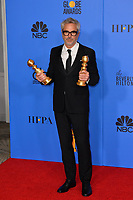 LOS ANGELES, CA. January 06, 2019: Alfonso Cuaron at the 2019 Golden Globe Awards at the Beverly Hilton Hotel.<br /> Picture: Paul Smith/Featureflash