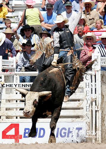 Tye Odden Bull Riding at Cheyenne Frontier Days