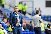 1st October 2017, Hillsborough, Sheffield, England; EFL Championship football, Sheffield Wednesday versus Leeds United; Carlos Carvalhal Manager of Sheffield Wednesday is not happy with the decision by the referee