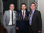 Ausin, Andy and Shane Byrne at the Drogheda Boys Anniversary Dinner.<br /> <br /> Photo: Jenny Matthews