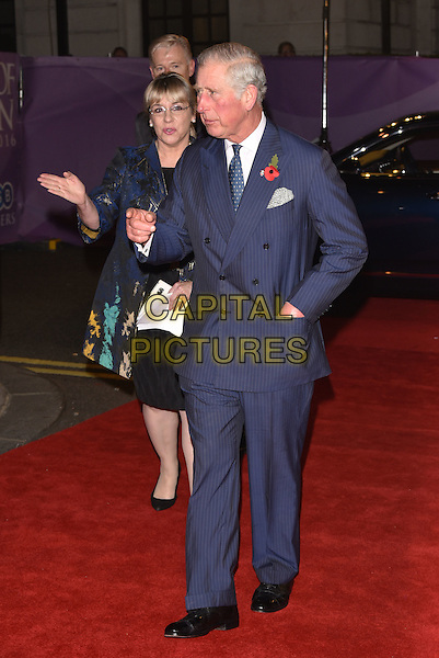 Prince Charles<br /> Pride of Britain Awards, Grosvenor House Hotel, London, England  on October 31,  2016<br /> CAP/Phil Loftus<br /> &copy;Phil Loftus/Capital Pictures