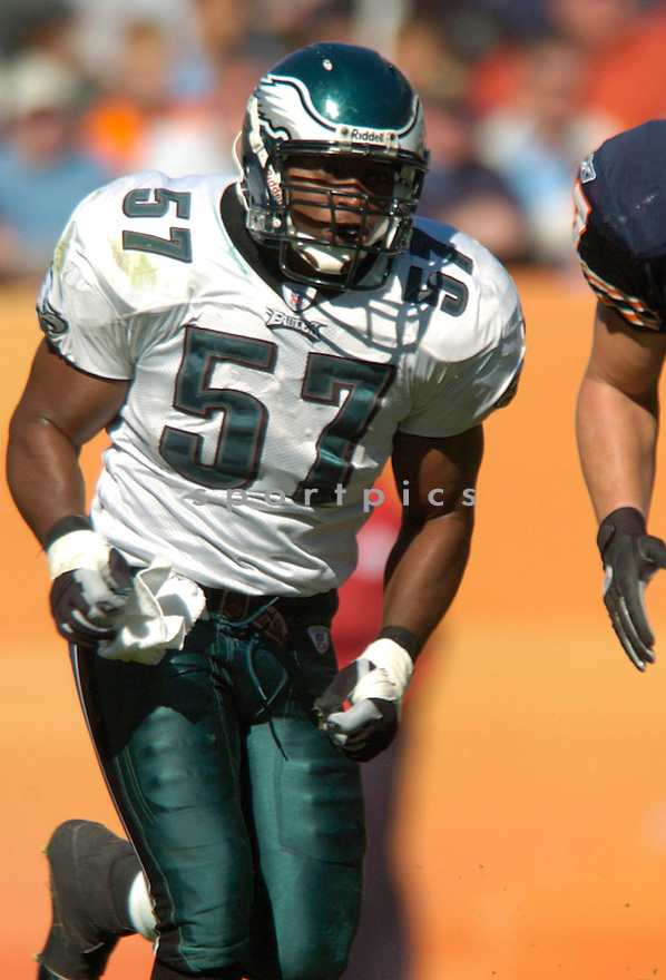 Keith Adams during the Philadelphia Eagles v. Chicago Bears game on September 3, 2004..David Durochik/ SportPics