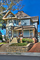 "Michael Jackson, ""Thriller House"", Angelino Heights,  Los Angeles, CA, Echo Park, district, well-kept, Victorian era, residences, California"
