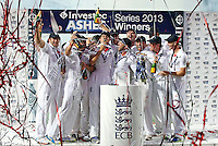 Ashes winners England - England vs Australia - 5th day of the 5th Investec Ashes Test match at The Kia Oval, London - 25/08/13 - MANDATORY CREDIT: Rob Newell/TGSPHOTO - Self billing applies where appropriate - 0845 094 6026 - contact@tgsphoto.co.uk - NO UNPAID USE