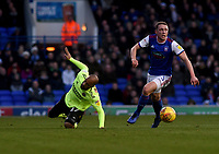 Ipswich Town's Matthew Pennington battles with  Sheffield United's David McGoldrick<br /> <br /> Photographer Hannah Fountain/CameraSport<br /> <br /> The EFL Sky Bet Championship - Ipswich Town v Sheffield United - Saturday 22nd December 2018 - Portman Road - Ipswich<br /> <br /> World Copyright © 2018 CameraSport. All rights reserved. 43 Linden Ave. Countesthorpe. Leicester. England. LE8 5PG - Tel: +44 (0) 116 277 4147 - admin@camerasport.com - www.camerasport.com