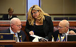 Nevada Assembly Republicans, from left, Randy Kirner, Michele Fiore and Jim Wheeler work on the Assembly floor at the Legislative Building in Carson City, Nev., on Tuesday, April 23, 2013. .Photo by Cathleen Allison