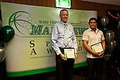 Administrator of the Year finalists Terry Logan & Kere Mahi. Inaugural Wiri Licensing Trust Manurewa Sports Awards held at the Weymouth Cosmopolitan Club on Sunday April 11th 2010.