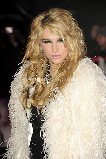 WWW.ACEPIXS.COM . . . . .  ..... . . . . US SALES ONLY . . . . .....February 16 2010, London....Ke$ha arriving at The Brit Awards at Earls Court on February 16, 2010 in London, England. ....Please byline: FAMOUS-ACE PICTURES... . . . .  ....Ace Pictures, Inc:  ..Tel: (212) 243-8787..e-mail: info@acepixs.com..web: http://www.acepixs.com