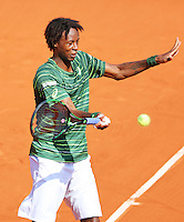 France, Paris , May 27, 2015, Tennis, Roland Garros, Gael Monfils (FRA)<br /> Photo: Tennisimages/Henk Koster