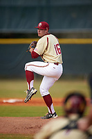 Boston College Eagles relief pitcher John Nicklas (16) delivers a pitch during a game against the Central Michigan Chippewas on March 8, 2016 at North Charlotte Regional Park in Port Charlotte, Florida.  Boston College defeated Central Michigan 9-3.  (Mike Janes/Four Seam Images)