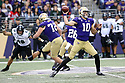 SEATTLE, WA - SEPTEMBER 14: Washington's (10) Jacob Eason (QB) fires the ball down field during the college football game between the Washington Huskies and the Hawaii Rainbow Warriors on September 14, 2019 at Husky Stadium in Seattle, WA.Jesse Beals / www.Olympicphotogroup.com