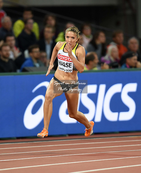 Rebekka HAASE (GER) in the womens 200m heats. IAAF world athletics championships. London Olympic stadium. Queen Elizabeth Olympic park. Stratford. London. UK. 08/08/2017. ~ MANDATORY CREDIT Garry Bowden/SIPPA - NO UNAUTHORISED USE - +44 7837 394578