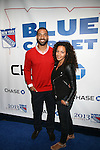 """New York Giants Sencer Paysinger and Guest Attend NEW YORK Rangers ROLL OUT THE """"BLUE CARPET PRESENTED by Chase"""" <br /> FOR GAME THREE AGAINST WASHINGTON at Madison Square Garden, NY"""