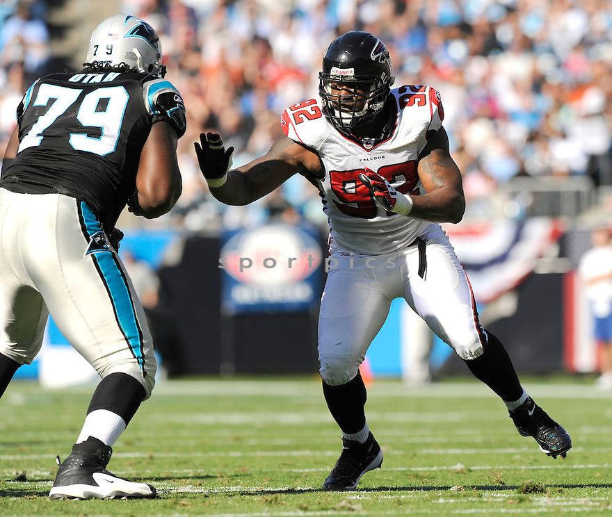 CHAUNCEY DAVIS, of the Atlanta Falcons, in action during the Falcons game against the Carolina Panthers on November 15, 2009 in Charlotte, NC. Panthers won 28-19.
