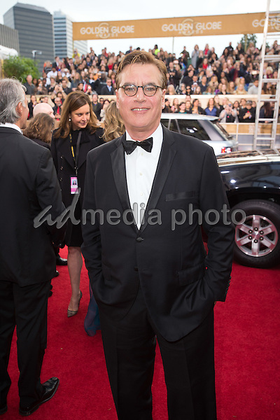 """Aaron Sorkin, Golden Globe Nominee for BEST SCREENPLAY - MOTION PICTURE for """"Steve Jobs"""", arrives at the 73rd Annual Golden Globe Awards at the Beverly Hilton in Beverly Hills, CA on Sunday, January 10, 2016. Photo Credit: HFPA/AdMedia"""
