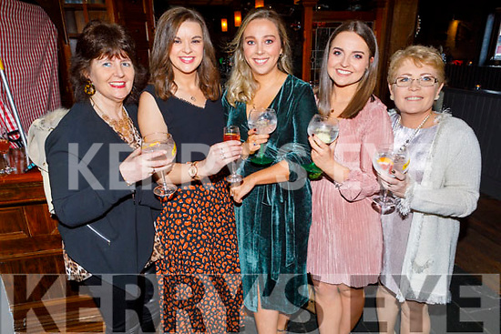 Joan Hill (Tralee), Fiona Herlihey (Camp), Karen Walsh (Tralee), Siobhan Ryle (Tralee) and Angela Moloney (Tralee) attending the Connect Kerry Women's Christmas in Style lunch in the Ashe Hotel on Sunday.