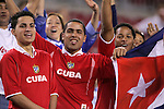 11 March 2008: Unidentified Cuba fans, pregame. The United States U-23 Men's National Team tied the Cuba U-23 Men's National Team 1-1 at Raymond James Stadium in Tampa, FL in a Group A game during the 2008 CONCACAF's Men's Olympic Qualifying Tournament.