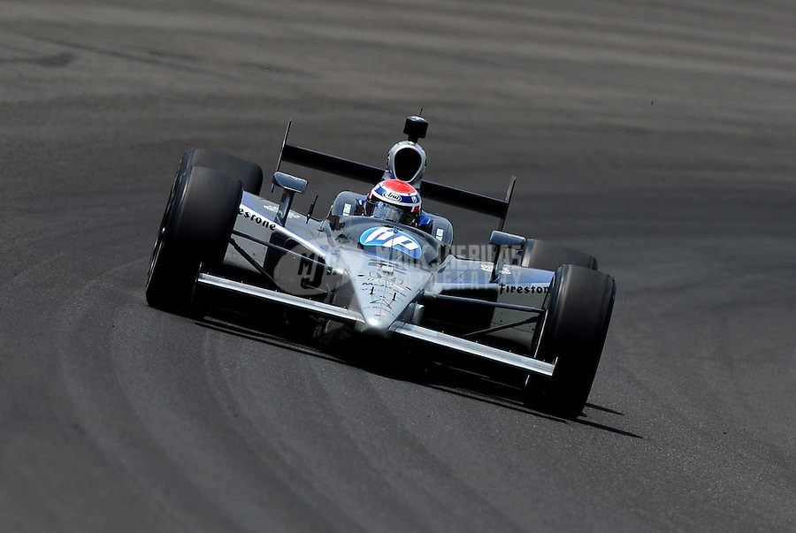 May 30, 2010; Indianapolis, IN, USA; IndyCar Series driver Raphael Matos during the Indianapolis 500 at the Indianapolis Motor Speedway. Mandatory Credit: Mark J. Rebilas-