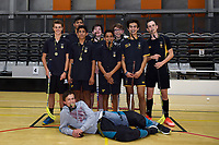 Floorball &ndash; CSW Finals at ASB Sports Centre, Wellington, New Zealand on Thursday 12 April 2018.<br /> Photo by Masanori Udagawa. <br /> www.photowellington.photoshelter.com