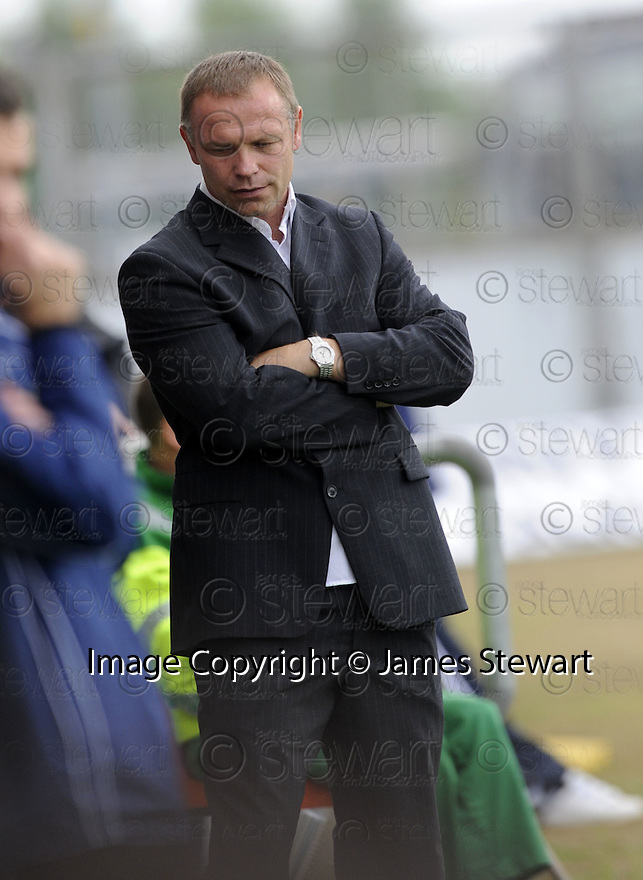 30/08/2008  Copyright Pic: James Stewart.File Name : sct_jspa13_falkirk_v_ict.FALKIRK MANAGER JOHN HUGHES TRIES TO THINK UP ANOTHER EXCUSE TO BLAME THE REF AFTER SEEING HIS SIDE LOSING AT HOME..James Stewart Photo Agency 19 Carronlea Drive, Falkirk. FK2 8DN      Vat Reg No. 607 6932 25.James Stewart Photo Agency 19 Carronlea Drive, Falkirk. FK2 8DN      Vat Reg No. 607 6932 25.Studio      : +44 (0)1324 611191 .Mobile      : +44 (0)7721 416997.E-mail  :  jim@jspa.co.uk.If you require further information then contact Jim Stewart on any of the numbers above........