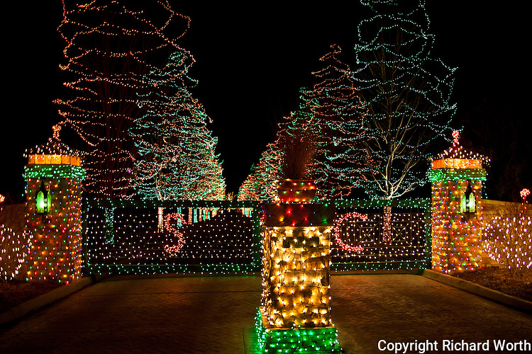 North of  Denver, a private Christmas tree display beckons to passersby