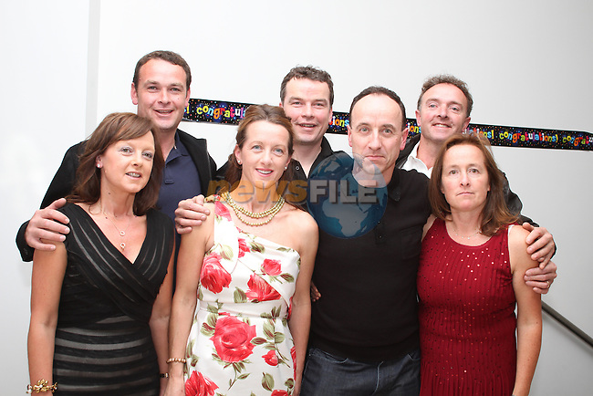 Sean Brady with his siblings, Rita, Tony, Deirdre, Gerard, Martin and Linda at his birthday in The dHotel...(Photo credit should read Jenny Matthews www.newsfile.ie)....This Picture has been sent you under the condtions enclosed by:.Newsfile Ltd..The Studio,.Millmount Abbey,.Drogheda,.Co Meath..Ireland..Tel: +353(0)41-9871240.Fax: +353(0)41-9871260.GSM: +353(0)86-2500958.email: pictures@newsfile.ie.www.newsfile.ie.