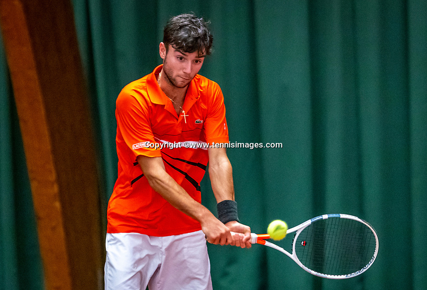 Wateringen, The Netherlands, December 4,  2019, De Rhijenhof , NOJK 14 and18 years, Raphael Mujan (NED)<br /> Photo: www.tennisimages.com/Henk Koster
