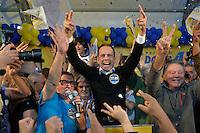 SÃO PAULO,SP, 02.10.2016 - ELEIÇÕES-SÃO PAULO - O prefeito eleito de São Paulo João Dória do PSDB, discursa no diretório estadual do PSDB, no bairro de Indianópolis, região sul de São Paulo, neste domingo, 02. (Foto: Levi Bianco/Brazil Photo Press)