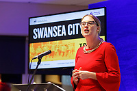 Pictured: Sophie Howe, future generations commissioner. Thursday 15 March 2018<br /> Re: Swansea City AFC Community Trust Celebration Event at the Liberty Stadium, Swansea, Wales, UK.