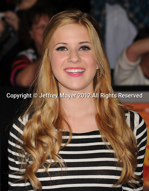 LOS ANGELES, CA - FEBRUARY 22: Caroline Sunshine attends the 'John Carter' Los Angeles premiere held at the Regal Cinemas L.A. Live on February 22, 2012 in Los Angeles, California.