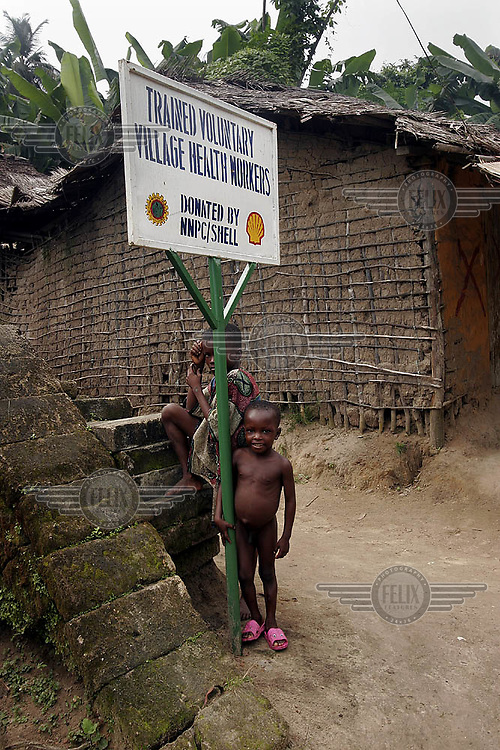The villagers of Iko complain they are still waiting to be compensated for pollution from Shell oil exploration many years ago. They say their tin roofs where destroyed and the fish stock in the river never recovered from spills.<br />  © Fredrik Naumann